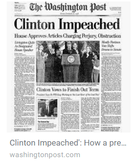 ClintonImpeachedWashingtonPostDailyBusinessNewsMHProNews