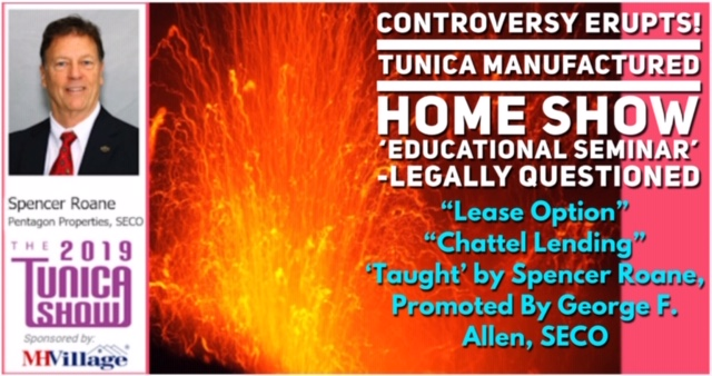 "Controversy-Erupts-Tunica-Manufactured-Home-Show-'Educational-Seminar'-Legally-Questioned-""Lease-Option""-""Chattel-Lending""-'Taught'-by-Spencer-Roane-Promoted-By-George-F.-Allen-SECO"