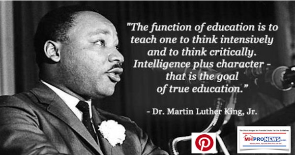 FunctionEducationTeachThinkIntesivelyThinkCriticallyIntelligencelusCharcterTrueGoalEducationRevMartinLutherKingJrMHProNews