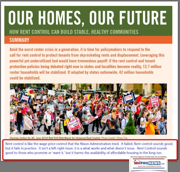 OurHomesOurFutreRentControlPromotedByMHAction-DailyBusinessNewsMHProNews