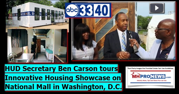 HUDSecretaryBenCarsonToursInnovativeHousingShowcaseNationalMallWashingtonDCDailyBusinessNewsMHproNews