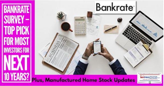 BankrateSurveyTopPickMostInvestorsNext10YearsPlusManufacturedHomeStockUpdates