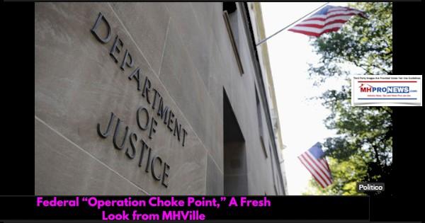 FederalOperationChokePointDeptOfJusticeDOJMHVilleManufacturedHOmeProNews