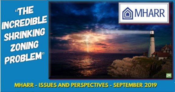 IncredibleShrinkingZoningProblemManufacturedHousingAssocRegulatoryReformIssuesPerspectivesSept2019