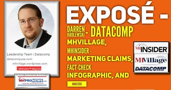 ExposeLeadershipTeamDarrenKrolewskiPhotoDatacompMHVillageMHInsiderLogosMarketingClaimsFactCheckInfographicAnalysisMHProNews