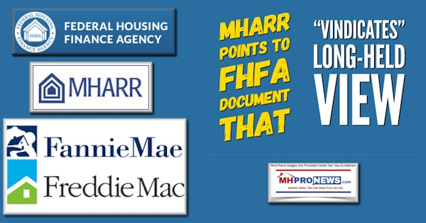 "MHARR Points to New FHFA Document That ""Vindicates"" Long-Held View"