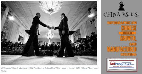 PresidentObamaPhotoPRCPresidentHuJintaoWhiteHouse2011ChinavsUSAinfographicChineseEconomicGrowth-ManufacturedHousingMHProNews