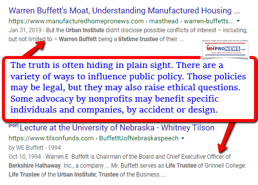 WarrenBuffettsMoatManufacturedHomeProNewsWarrenBuffettLifetimeTrusteeUrbanInstituteManufacturedHomeProNews