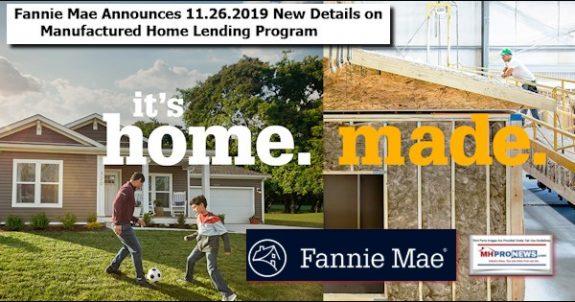 FannieMaeAnnounces11.26.2019NewDetailsManufacturedHomeLendingProgramManufacturedHomeProNews