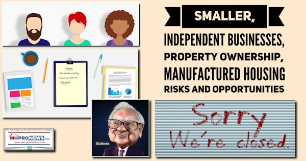 SmallerIndependentBusinessesPropertyOwnershipManufactured HousingRisksOpportunitiesWarrenBuffettCartoonManufacturedHomeProNews