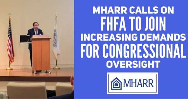 MHARRCallsonFHFAJoinIncreasingDemandsforCongressionalOversightManufacturedHomeProNews