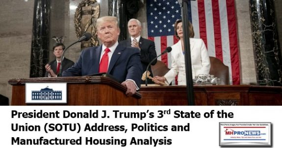 PresidentDonaldJTrump3rdStateOfUnionSOTUAddressPoliticsEconomicsManufacturedHousingAnalysis