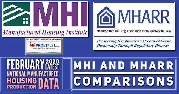February2020NationalManufacturedHousingProductionDataMHIandMHARRcomparisonsHUDCodeManufacturedHomeProNews