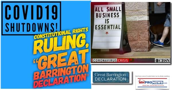 COVID19ShutdownsTheGreatBarringtonDeclarationLogoConstitutionalRightsRulingMHProNews