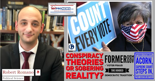 RobertRomanoPhotoDailyTorchLogoCountEveryVoteConspiracyTheoriesSoberRealityFormerDemGovBlagoVoterFraudTimeHonoredDemocratTraditionBidenStatementsACORNSCOTUSInPostElectionBattles