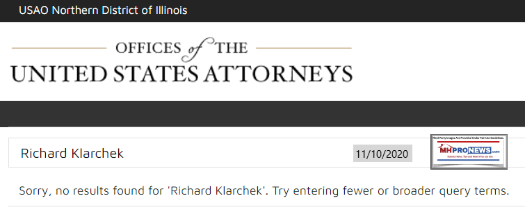 US.AttorneysOfficeNorthernDistrictOfIllinoisRichardJKlarchekNoResultMHProNews