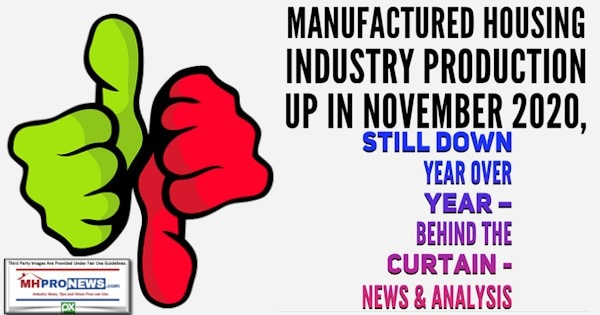 ManufacturedHousingIndustryProductionUpNov2020StillDownYearOverYearBehindCurtainNewsAnalysisMHProNews