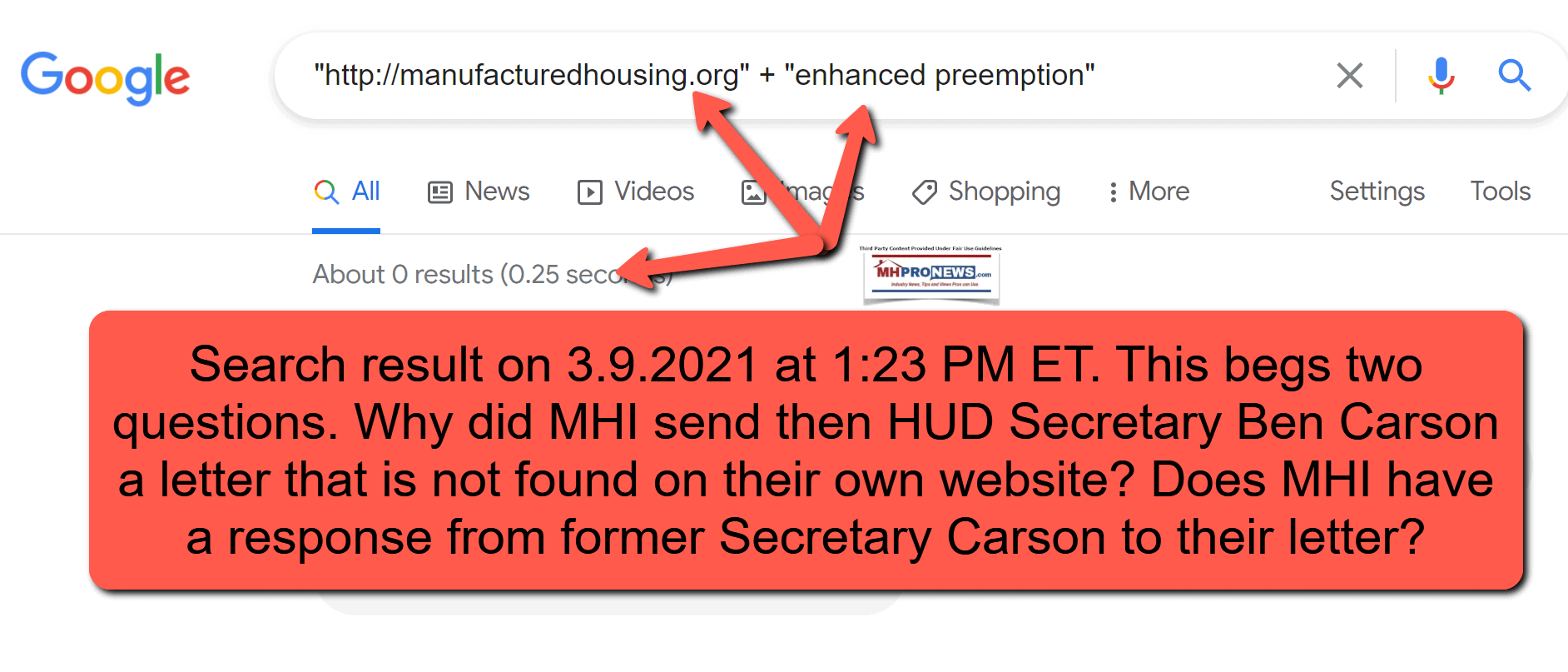 ManufacturedHousingInstituteWebsiteGoogleSearch3.9.2021EnhancedPreemptionMHProNewsFactCheck
